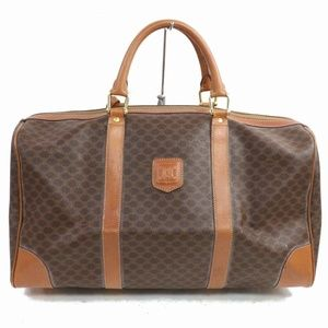 Auth Celine Macadam Boston Bag Coated #1140O76